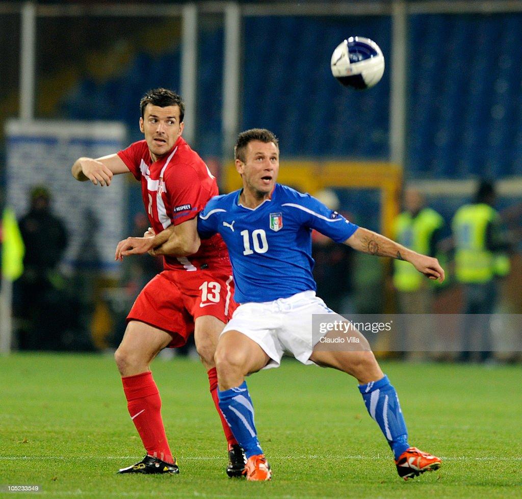 Italy v Serbia - EURO 2012 Qualifier
