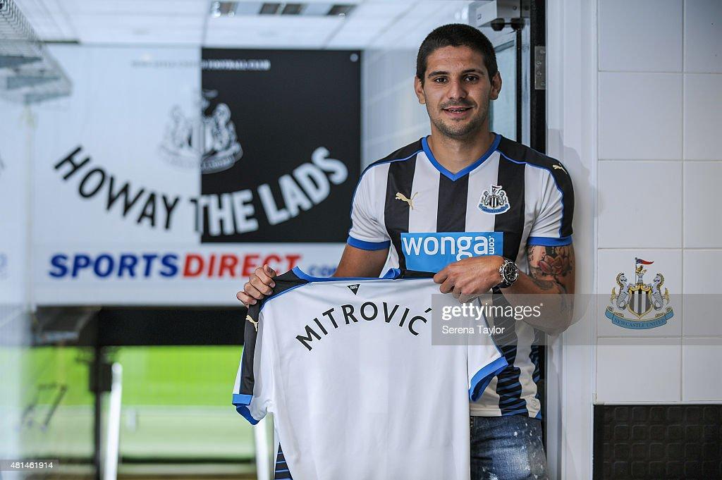 Newcastle United Unveil New Signing Aleksandar Mitrovic