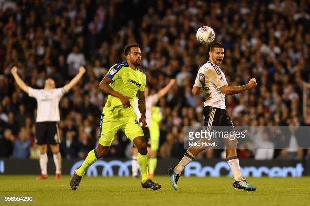Aleksandar Mitrovic of Fulham celebrates at the final whistle during the Sky Bet Championship Play Off Semi Final second leg match between Fulham and...