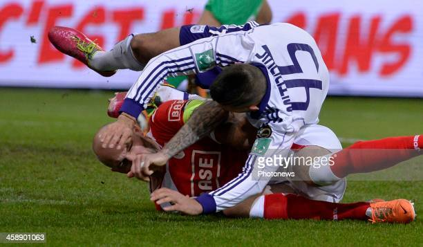 Aleksandar Mitrovic of Rsc Anderlecht - Jelle Van Damme of Standard Liege during the Jupiler League match between Standard Liege and RSC Anderlecht...