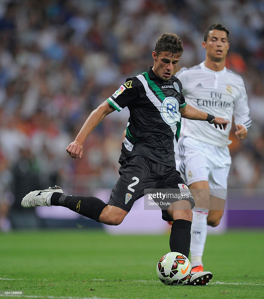 Aleksandar Pantic of Crodoba CF in action during the La liga match between Real Madrid CF and Cordoba CF at Estadio Santiago Bernabeu on August 25, 2014 in Madrid, Spain.