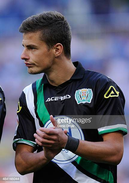Aleksandar Pantic of Crodoba CF looks on before the La liga match between Real Madrid CF and Cordoba CF at Estadio Santiago Bernabeu on August 25...