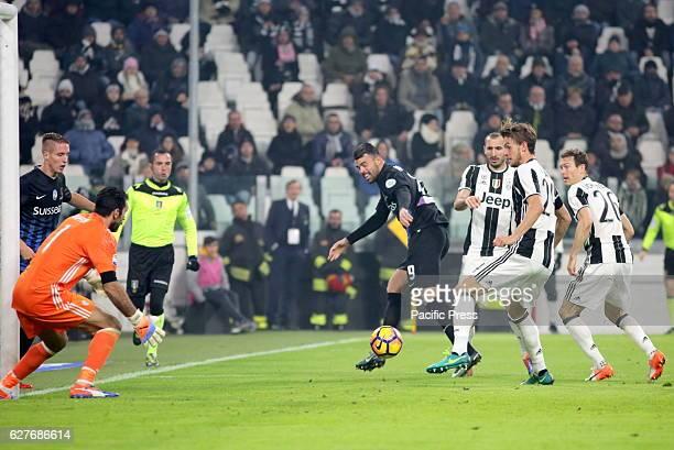 Aleksandar Pesic of Atalanta in action during the Serie A football match between Juventus FC and Atalanta Bergamasca Calcio Juventus FC wins 31 over...