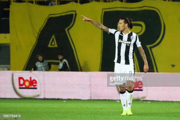Aleksandar Prijovic during the match between FC ARIS vs FC PAOK 12 game for the Superleague Greece the first category in Thessaloniki Greece on 21...