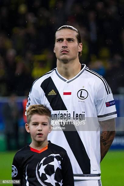 Aleksandar Prijovic of Legia Warszawa before the UEFA Champions League Group F match between Borussia Dortmund and Legia Warszawa at Signal Iduna...