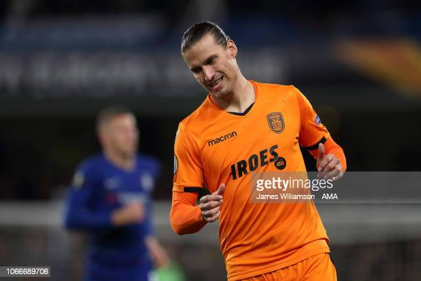Aleksandar Prijovic of PAOK Thessaloniki during the UEFA Europa League Group L match between Chelsea and PAOK at Stamford Bridge on November 29 2018...