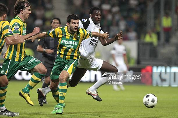 Aleksandar Radosavljevic of AdoGeoffrey Castillion of RKC Waalwijk during the Eredivisie match between ADO Den Haag and RKC Waalwijk at the Kyocera...