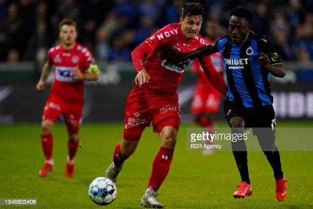 Aleksandar Radovanovic of KV Kortrijk during the Jupiler Pro League match between Club Brugge and KV Kortrijk at Jan Breydelstadion on October 15,...