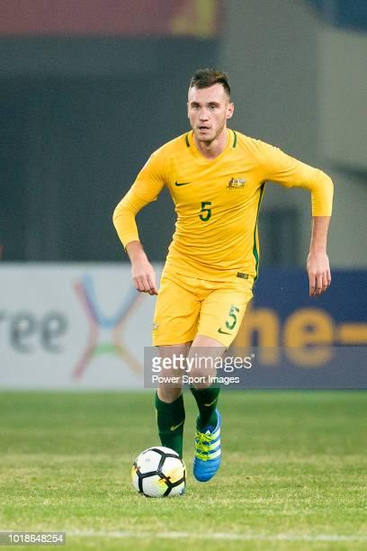 Aleksandar Susnjar of Australia in action during the AFC U23 Championship China 2018 Group D match between South Korea and Australia at Kunshan...