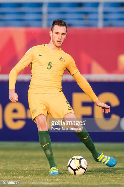 Aleksandar Susnjar of Australia in action during the AFC U23 Championship China 2018 Group D match between Australia and Syria at Kunshan Sports...