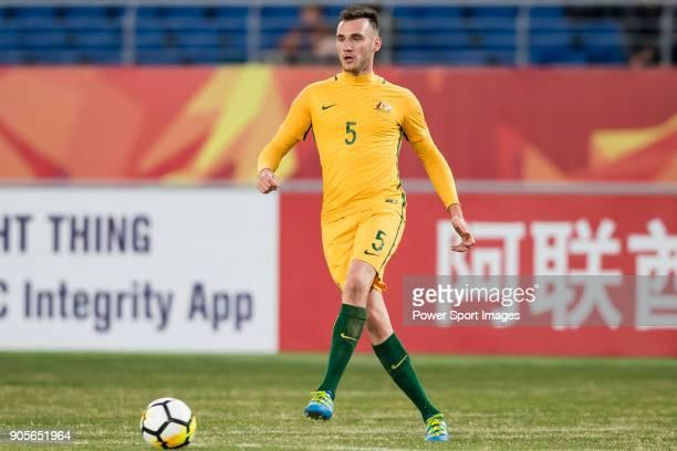 Aleksandar Susnjar of Australia in action during the AFC U23 Championship China 2018 Group D match between Vietnam and Australia at Kunshan Sports...