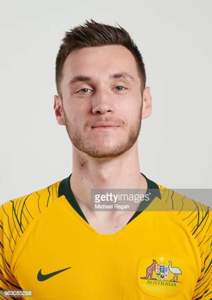Aleksandar Susnjar of Australia poses during the Australia 'Socceroos' Kit Launch on March 24 2018 in Oslo Norway