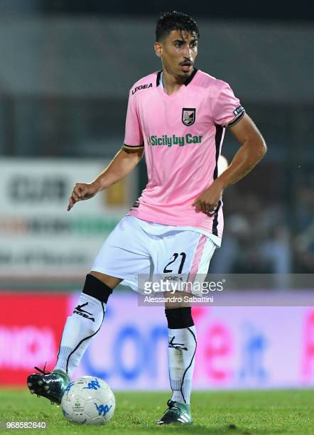Aleksandar Trajkovski of US Citta di Palermo in action during the serie B playoff match between Venezia FC and US Citta di Palermo at Stadio Pier...