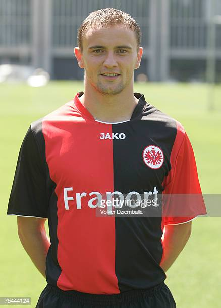 Aleksandar Vasoski attend the team presentation of the Eintracht Frankfurt at the Commerzbank Arena on July 16 2007 in Frankfurt Germany