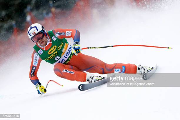 Aleksander Aamodt Kilde of Norway competes during the Audi FIS Alpine Ski World Cup Men's Super G on November 26, 2017 in Lake Louise, Canada.