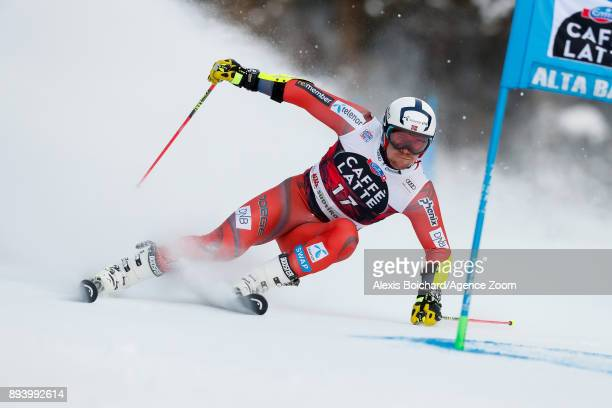 Aleksander Aamodt Kilde of Norway competes during the Audi FIS Alpine Ski World Cup Men's Giant Slalom on December 17 2017 in Alta Badia Italy