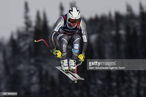 Aleksander Aamodt Kilde of Norway competes during the FIS World Ski Championships Men's Alpine Combined on February 11 2019 in Are Sweden