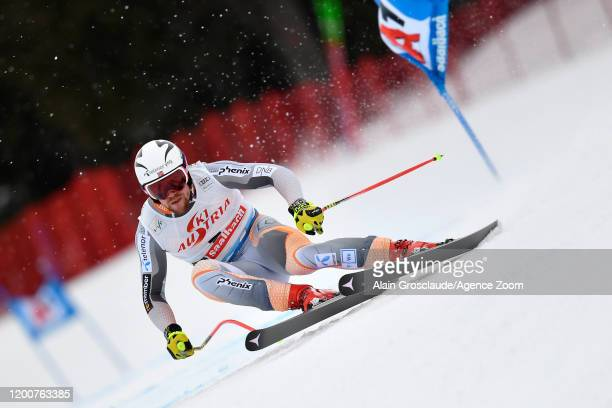 Aleksander Aamodt Kilde of Norway in action during the Audi FIS Alpine Ski World Cup Men's Super G on February 14, 2020 in Saalbach Austria.