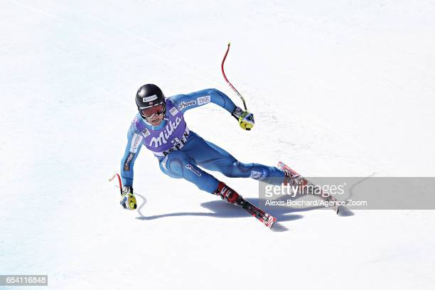 Aleksander Aamodt Kilde of Norway takes 3rd place during the Audi FIS Alpine Ski World Cup Finals Women's and Men's SuperG on March 16 2017 in Aspen...