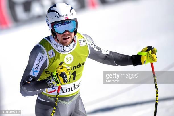 Aleksander Aamodt of Norway Ski Team during Mens SuperG Audi FIS Ski World Cup race on March 14 2019 in El Tarter Andorra