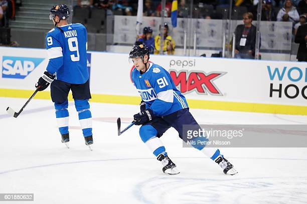Aleksander Barkov of Finland during the Pre World Cup of Hockey match between Sweden and Finland at Scandinavium on September 10 2016 in Gothenburg...