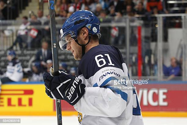 Aleksander Barkov of Finland skates against Canada during the 2016 IIHF World Championship gold medal game at the Ice Palace on May 22 2016 in Moscow...