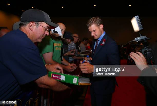 Aleksander Barkov of the Florida Panthers arrives at the 2018 NHL Awards presented by Hulu at the Hard Rock Hotel Casino on June 20 2018 in Las Vegas...
