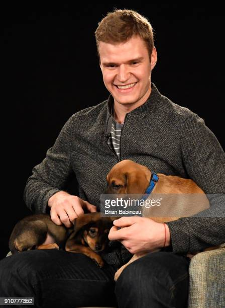Aleksander Barkov of the Florida Panthers attends the Players Puppies event at the Grand Hyatt Hotel on January 26 2018 in Tampa Florida