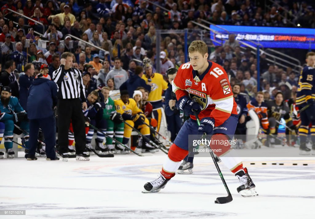 2018 GEICO NHL All-Star Skills Competition - Save Streak : News Photo