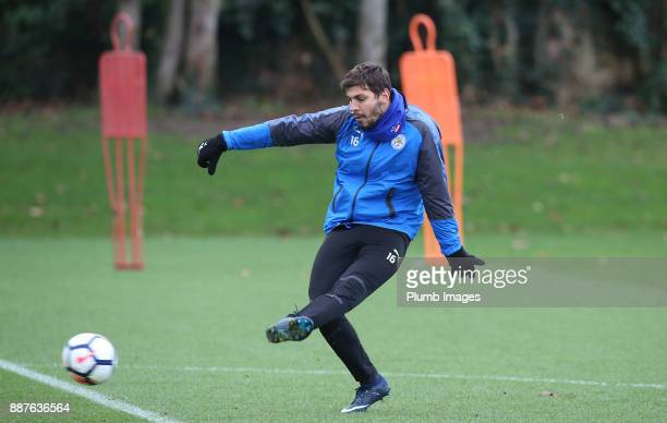 Aleksander Dragovic during a Leicester City training session at Belvoir Drive Training Complex on December 7 2017 in Leicester United Kingdom