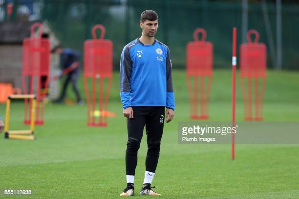 Aleksander Dragovic during the Leicester City training session at Belvoir Drive Training Complex on September 28 2017 in Leicester United Kingdom