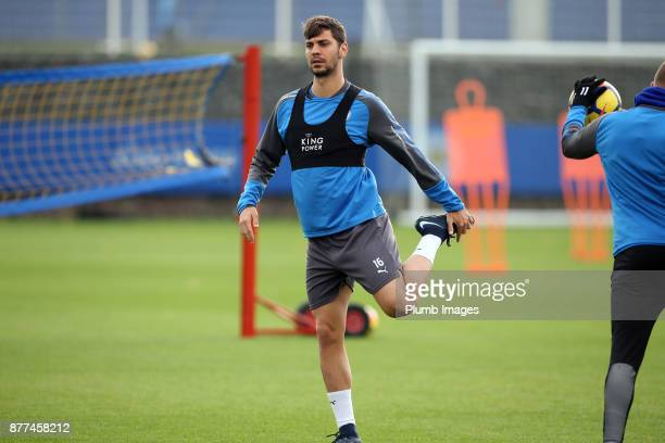 Aleksander Dragovic during the Leicester City training session at Belvoir Drive Training Complex on November 22 2017 in Leicester United Kingdom