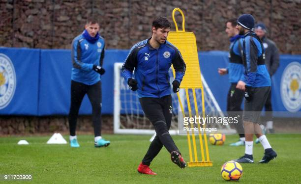 Aleksander Dragovic during the Leicester City training session at Belvoir Drive Training Complex on January 29th 2018 in Leicester United Kingdom