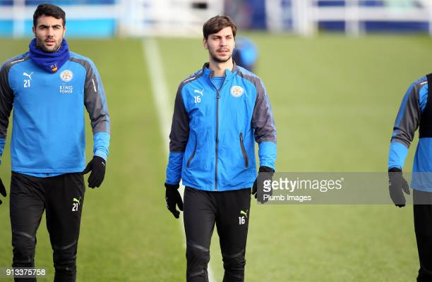 Aleksander Dragovic during the Leicester City training session at Belvoir Drive Training Complex on February 02 2018 in Leicester United Kingdom