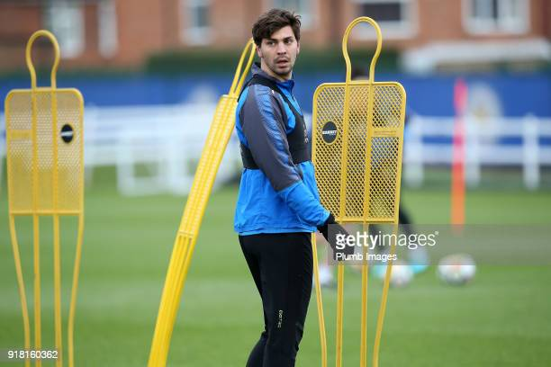 Aleksander Dragovic during the Leicester City training session at Belvoir Drive Training Complex on February 14 2018 in Leicester United Kingdom