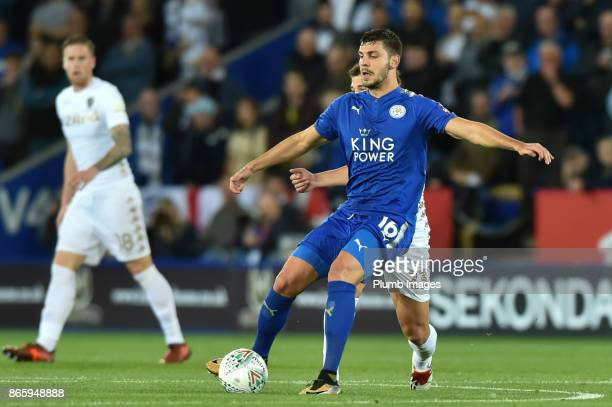 Aleksander Dragovic of Leicester City during the Carabao Cup fourth round match between Leicester City and Leeds United at The King Power Stadium on...