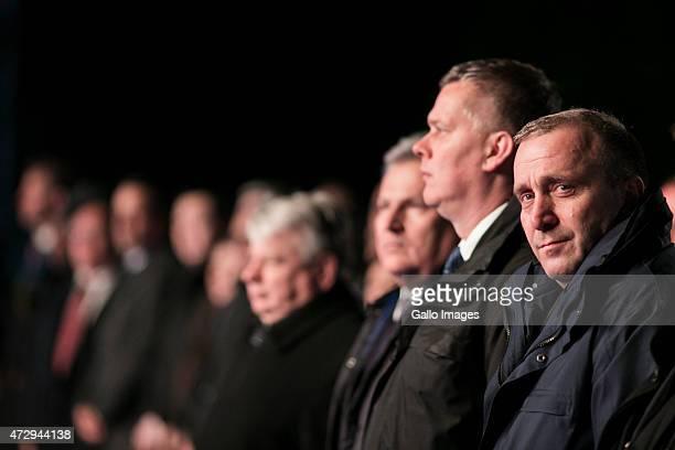 Aleksander Kwasniewski , Tomasz Siemoniak - Minister of Defence , Grzegorz Schetyna - Minister of Foregin Affairs attend the 70th anniversary...