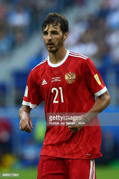 Aleksandr Erokhin of Russia during the Group A FIFA Confederations Cup Russia 2017 match between Russia and New Zealand at Saint Petersburg Stadium...