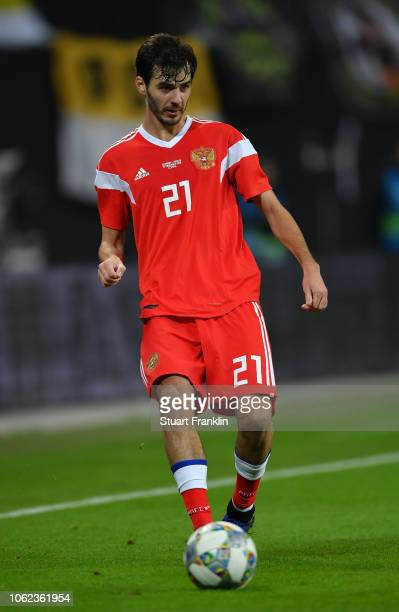 Aleksandr Erokhin of Russia in action during an International Friendly match between Germany and Russia at Red Bull Arena on November 15 2018 in...