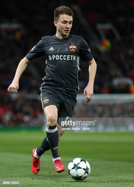 Aleksandr Golovin of CSKA Moscow during the UEFA Champions League group A match between Manchester United and CSKA Moskva at Old Trafford on December...