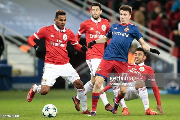 Aleksandr Golovin of CSKA Moscow in action during the UEFA Champions League Group A soccer match between CSKA Moscow and Benfica at VEB Arena in...