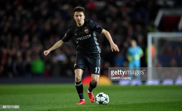 Aleksandr Golovin of CSKA Moskva during the UEFA Champions League group A match between Manchester United and CSKA Moskva at Old Trafford on December...
