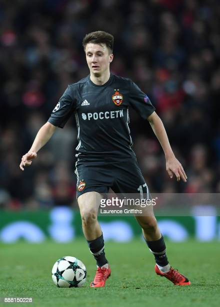Aleksandr Golovin of CSKA Moskva runs with the ball during the UEFA Champions League group A match between Manchester United and CSKA Moskva at Old...