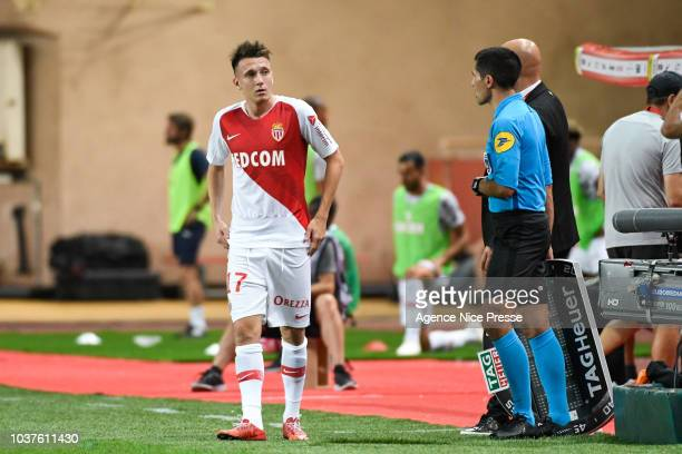 Aleksandr Golovin of Monaco during the Ligue 1 match between AS Monaco and Nimes at Stade Louis II on September 21 2018 in Monaco Monaco