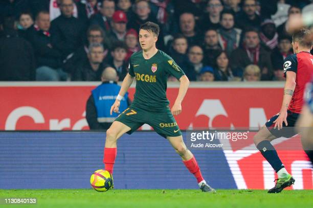 Aleksandr Golovin of Monaco during the Ligue 1 match between Lille and Monaco at Stade Pierre Mauroy on March 15 2019 in Lille France