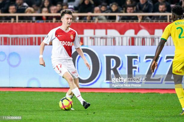 Aleksandr Golovin of Monaco during the Ligue 1 match between Monaco and Nantes at Stade Louis II on February 16 2019 in Monaco Monaco