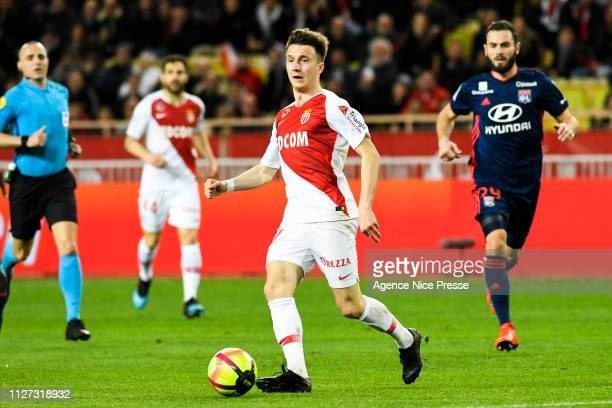 Aleksandr Golovin of Monaco during the Ligue 1 match between Monaco and Lyon at Stade Louis II on February 24 2019 in Monaco Monaco