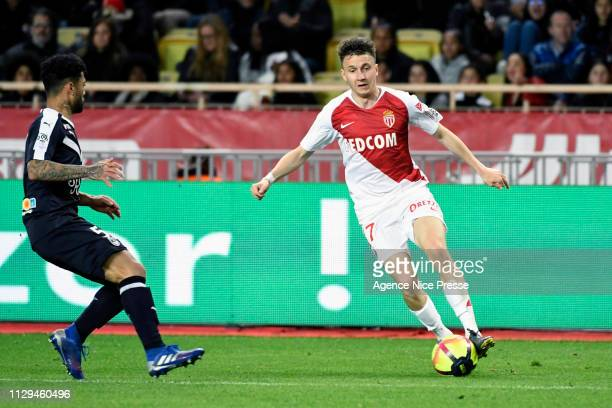 Aleksandr Golovin of Monaco during the Ligue 1 match between Monaco and Bordeaux at Stade Louis II on March 9 2019 in Monaco Monaco