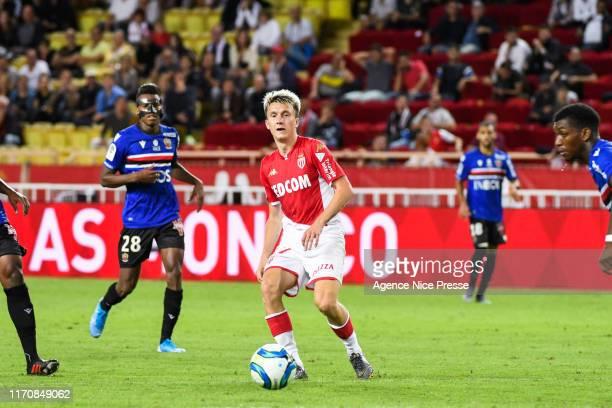 Aleksandr GOLOVIN of Monaco during the Ligue 1 match between Monaco and Nice on September 24, 2019 in Monaco, Monaco.
