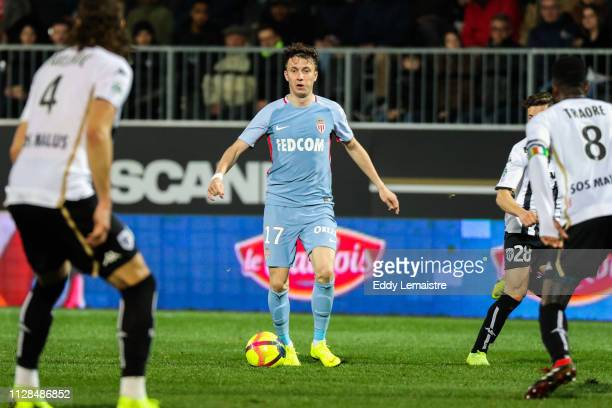Aleksandr Golovin of Monaco during the Ligue 1 match between SCO Angers and AS Monaco on March 2 2019 in Angers France